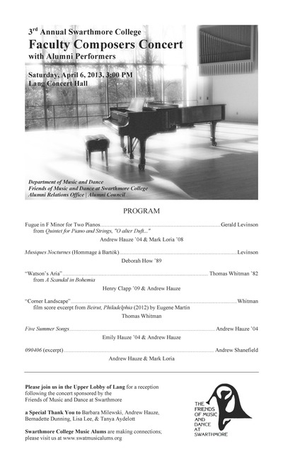 Faculty Composers PROGRAM